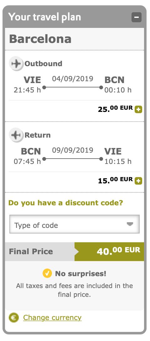 Veľký výpredaj VUELING: napr. Viedeň – Barcelona spiatočne za výborných 40€