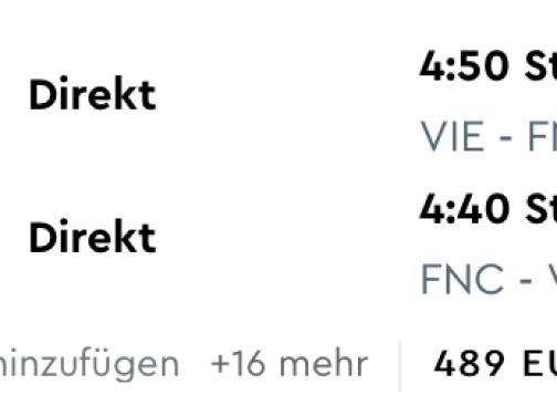 Last Minute letenka na MADEIRU z Viedne za fantastických 79€ (batožina v cene!)