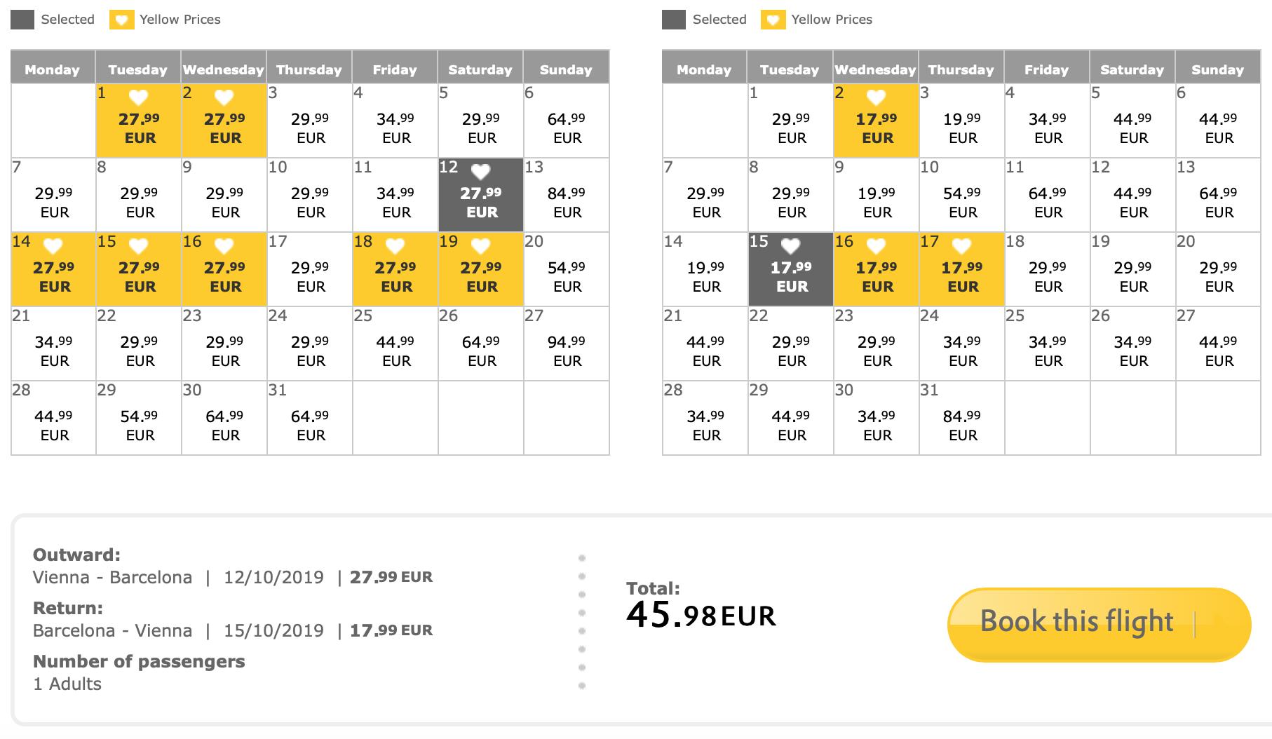 Výpredaj VUELING: napr. Viedeň – Barcelona spiatočne na predĺžený víkend za výborných 46€