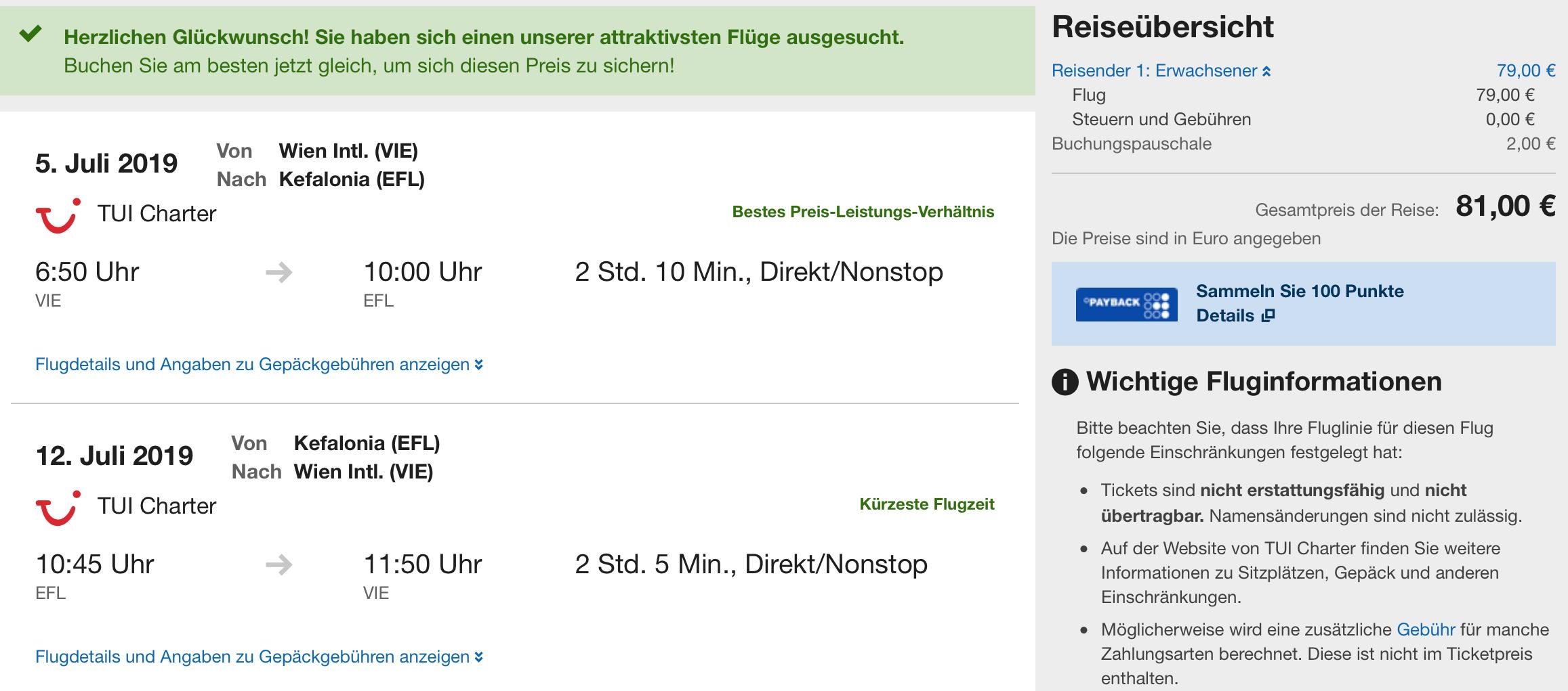 Last Minute letenka: KEFALONIA z Viedne za parádnych 81€ (batožina v cene!)