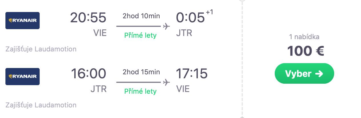 SANTORINI koncom letných prázdnin s odletom z Viedne už za veľmi dobrých 100€