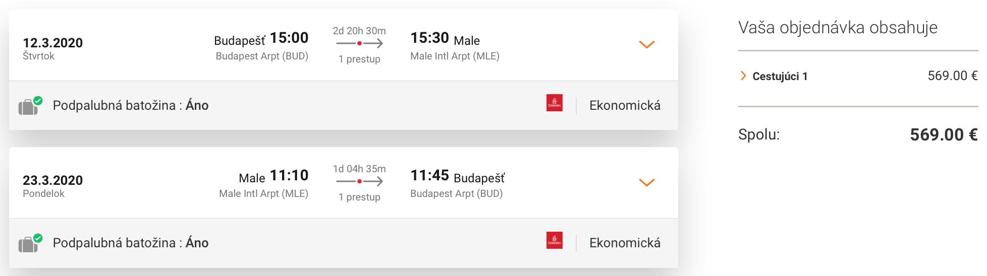 Emirates 2 v 1: DUBAJ a MALDIVY v rámci jednej cesty za parádnych 569€ (odlet z Budapešti)