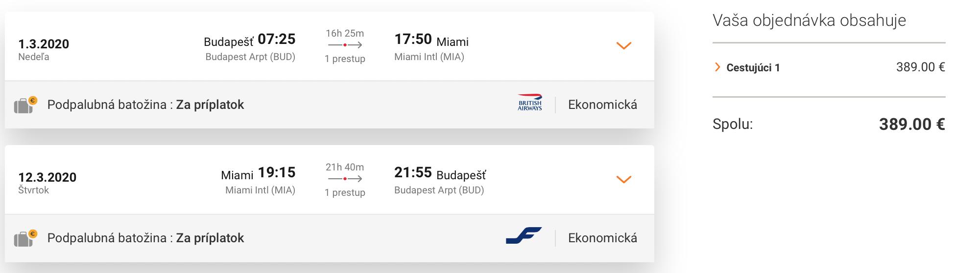 Florida: MIAMI s odletom z Budapešti za veľmi dobrých 389€