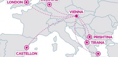 NOVINKA Wizz Air: 6 nových pravidelných liniek z Viedne