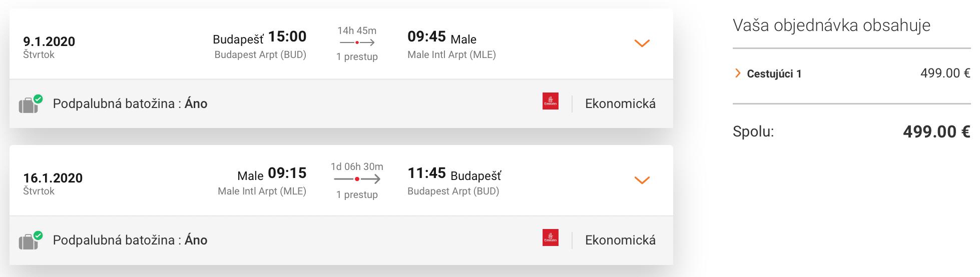 MALDIVY so špičkovými Emirates za parádnych 499€ (veľa termínov)