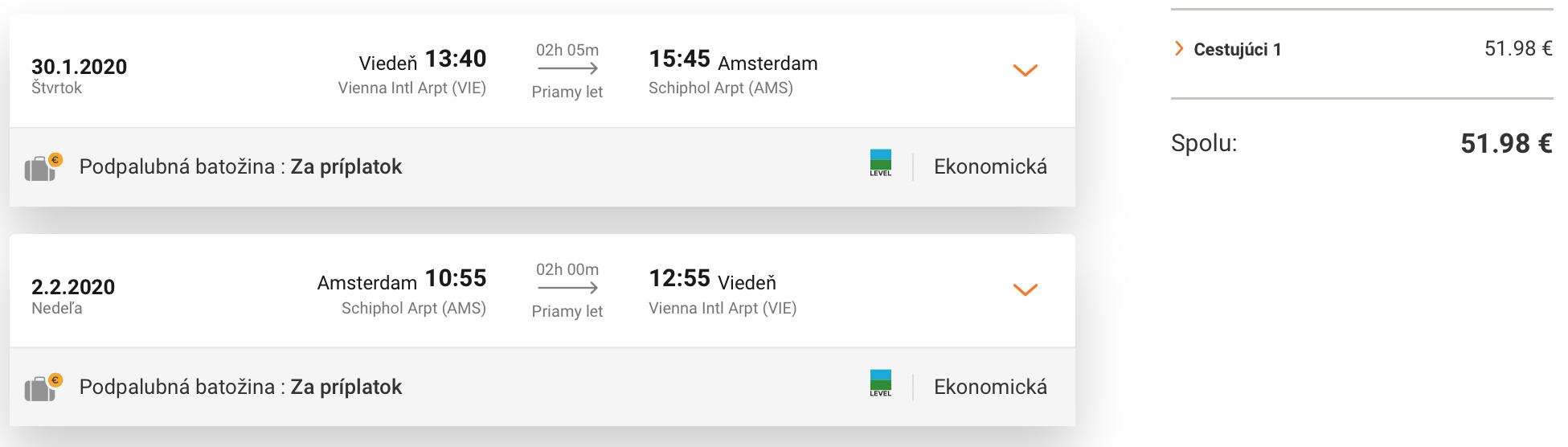 AMSTERDAM aj na predĺžený víkend s odletom z Viedne za skvelých 52€