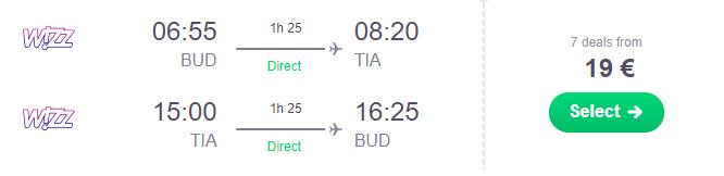Albánsko: TIRANA na predĺžený víkend za výborných 19€ (odlet z Budapešti)