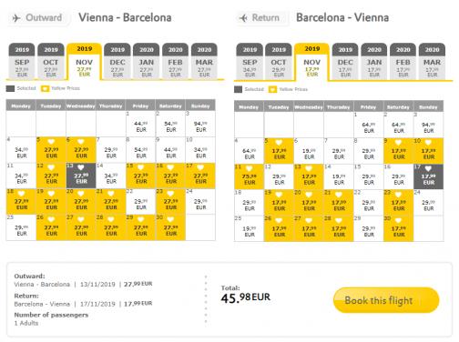Veľký výpredaj VUELING: napr. Viedeň – Barcelona spiatočne na predĺžený víkend za výborných 46€