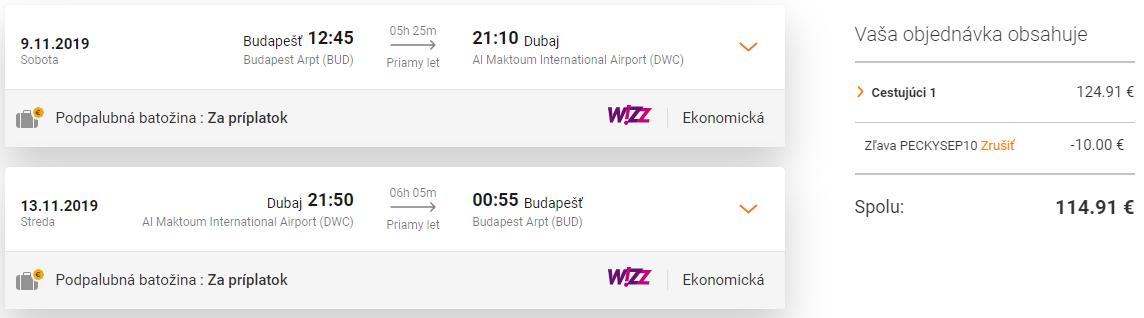 DUBAJ s odletom z Budapešti od skvelých 114€ (priamy let)