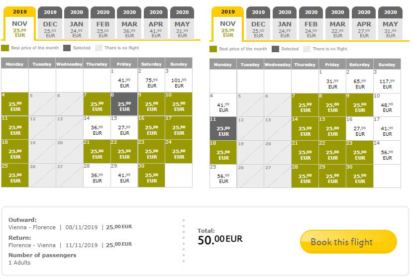 Veľký výpredaj VUELING: napr. Viedeň – Florencia spiatočne na predĺžený víkend za veľmi dobrých 50€