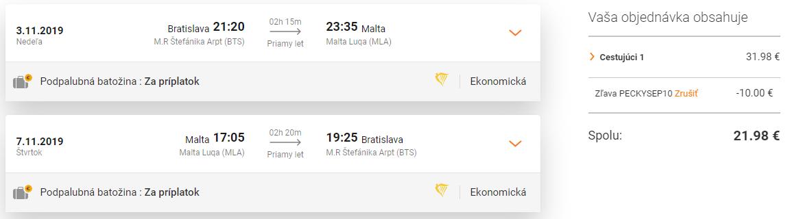 MALTA v mimosezónnom období za skvelých 22€ (odlet z Bratislavy)