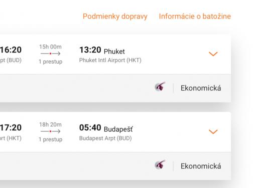 PHUKET s najlepšou leteckou spoločnosť za veľmi dobrých 499€ (odlet z Budapešti)