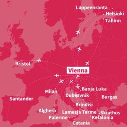 Novinka Laudamotion: 17 nových liniek z Viedne !!!