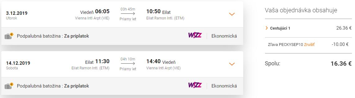 Izrael: EILAT s odletom z Viedne za fantastických 16€