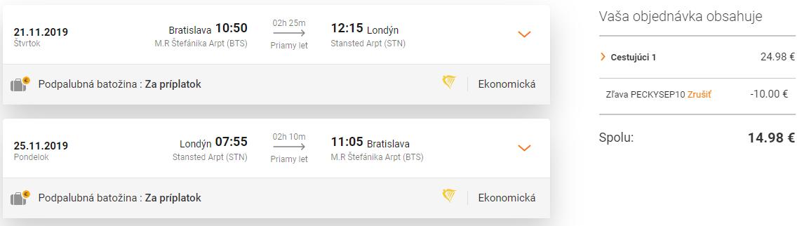 LONDÝN na predĺžený víkend za parádnych 15€ (odlet z Bratislavy)