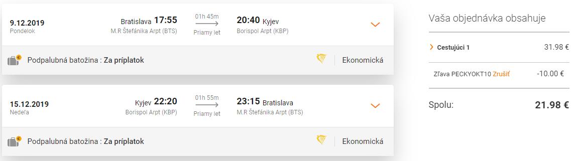 Zimný KYJEV s odletom z Bratislavy za parádnych 22€