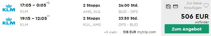 BALI s odletom z Budapešti od veľmi dobrých 506€