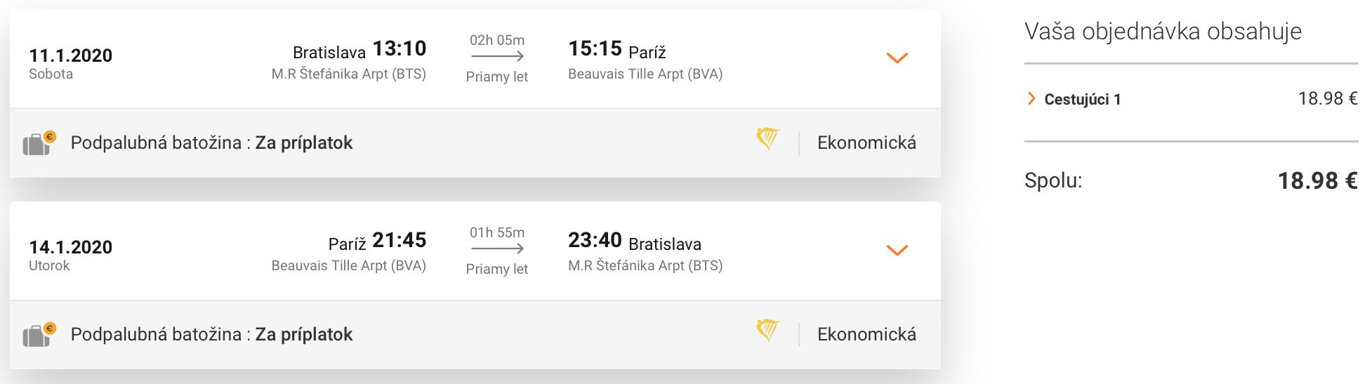 Zimný PARÍŽ s odletom z Bratislavy za parádnych 19€