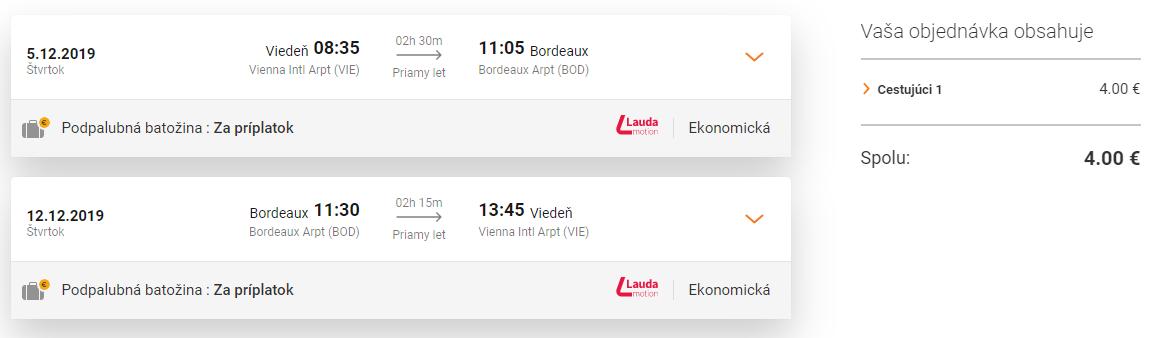 BORDEAUX za neskutočné 4€ (odlet z Viedne)